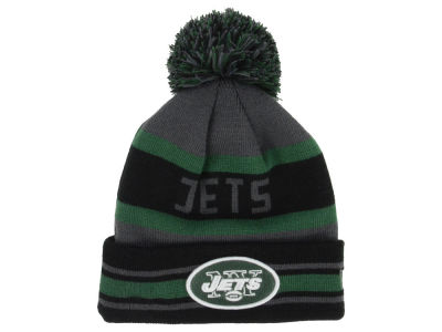 New York Jets New Era NFL Graphite Black Team Color Pop Jake Knit
