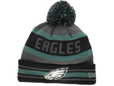 Philadelphia Eagles New Era NFL Graphite Black Team Color Pop Jake Knit