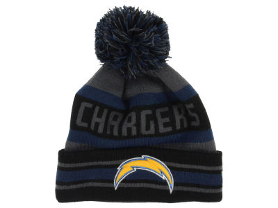 San Diego Chargers New Era NFL Graphite Black Team Color Pop Jake Knit