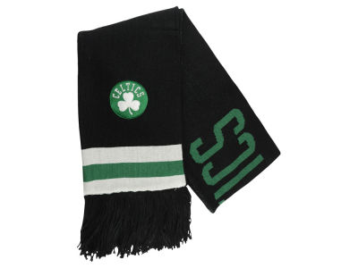 Boston Celtics Mitchell and Ness NBA Blackout Team Stripe Scarf
