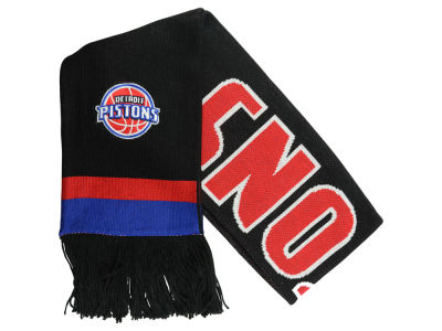 Detroit Pistons Mitchell and Ness NBA Blackout Team Stripe Scarf