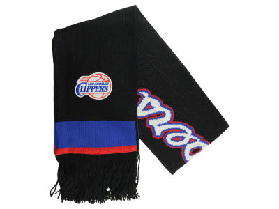 Los Angeles Clippers Mitchell and Ness NBA Blackout Team Stripe Scarf