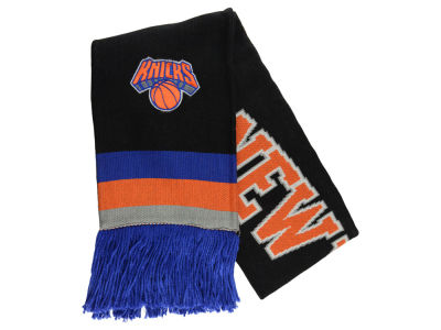 New York Knicks Mitchell and Ness NBA Blackout Team Stripe Scarf