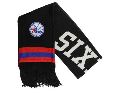 Philadelphia 76ers Mitchell and Ness NBA Blackout Team Stripe Scarf