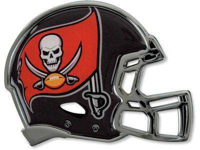 Tampa Bay Buccaneers Metal Helmet Emblem with Domed Insert