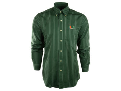 Miami Hurricanes NCAA Achieve Button Down Woven
