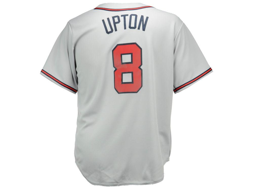 new arrivals fb65e d64ef Atlanta Braves Justin Upton Majestic MLB Men s Player Replica Cool Base  Jersey   lids.com