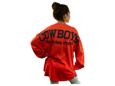 Oklahoma State Cowboys NCAA Women's Sweeper Long Sleeve Solid T-Shirt