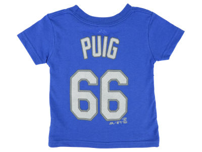 Los Angeles Dodgers Yasiel Puig Majestic MLB Infant Official Player T-Shirt
