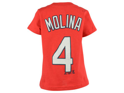 St. Louis Cardinals Yadier Molina Majestic MLB Toddler Official Player T-Shirt
