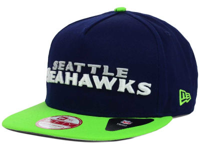 Seattle Seahawks New Era NFL Flip Up Team Redux 9FIFTY Snapback Cap