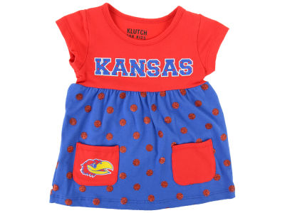 Kansas Jayhawks NCAA Toddler Polka Dot Dress