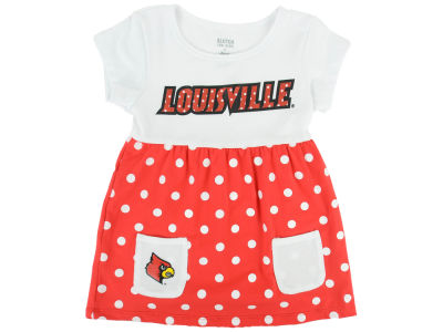 Louisville Cardinals NCAA Toddler Polka Dot Dress