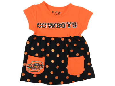 Oklahoma State Cowboys NCAA Newborn Polka Dot Dress