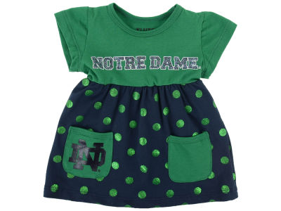 Notre Dame Fighting Irish NCAA Newborn Polka Dot Dress