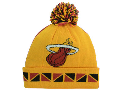 Miami Heat Mitchell and Ness NBA 2 Face Cuffed Pom Knit