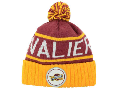 Cleveland Cavaliers Mitchell and Ness NBA High 5 Cuffed Pom Knit