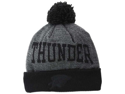 Oklahoma City Thunder Mitchell and Ness NBA Blackout High 5 Cuffed Pom Knit