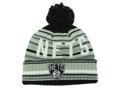 Brooklyn Nets Mitchell and Ness NBA Stripe High 5 Knit