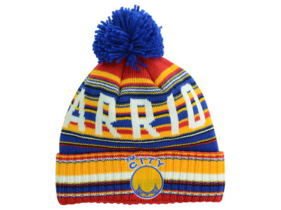 Golden State Warriors Mitchell and Ness NBA Stripe High 5 Knit