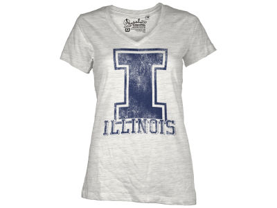 Illinois Fighting Illini Pressbox NCAA Womens Charlie T-Shirt 2014
