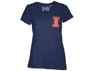 Illinois Fighting Illini Pressbox NCAA Womens Bira Vneck T-Shirt 2014