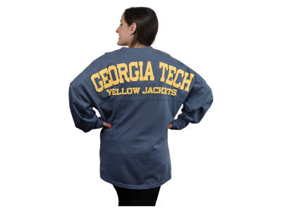 Georgia-Tech NCAA Women's Sweeper Long Sleeve Solid T-Shirt