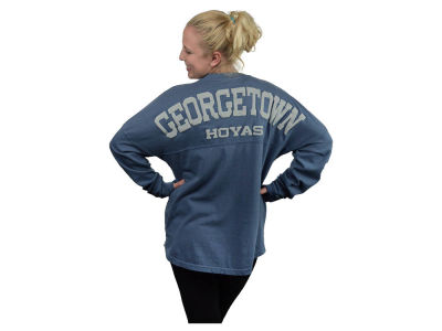 Georgetown Hoyas NCAA Women's Sweeper Long Sleeve Solid T-Shirt