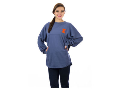 Illinois Fighting Illini NCAA Women's Sweeper Long Sleeve Solid T-Shirt