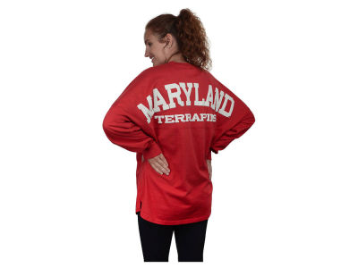 Maryland Terrapins NCAA Women's Sweeper Long Sleeve Solid T-Shirt