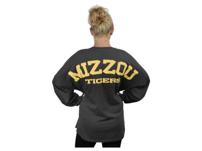 Missouri Tigers NCAA Women's Sweeper Long Sleeve Solid T-Shirt