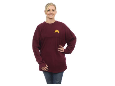 Minnesota Golden Gophers NCAA Women's Sweeper Long Sleeve Solid T-Shirt