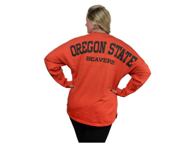Oregon State Beavers NCAA Women's Sweeper Long Sleeve Solid T-Shirt