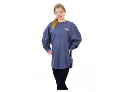 Pittsburgh Panthers NCAA Women's Sweeper Long Sleeve Solid T-Shirt