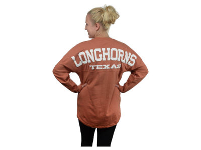 Texas Longhorns NCAA Women's Sweeper Long Sleeve Solid T-Shirt