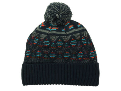 LIDS Private Label PL Diamond Patterned Cuffed Pom Knit