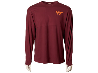 Virginia Tech Hokies NCAA Women's Sweeper Long Sleeve Solid T-Shirt
