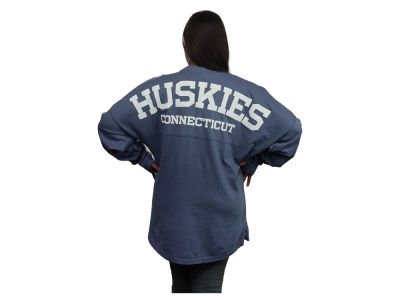 Connecticut Huskies NCAA Women's Sweeper Long Sleeve Solid T-Shirt