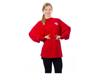 Wisconsin Badgers NCAA Women's Sweeper Long Sleeve Solid T-Shirt
