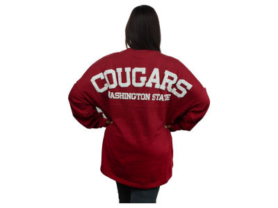 Washington State Cougars NCAA Women's Sweeper Long Sleeve Solid T-Shirt