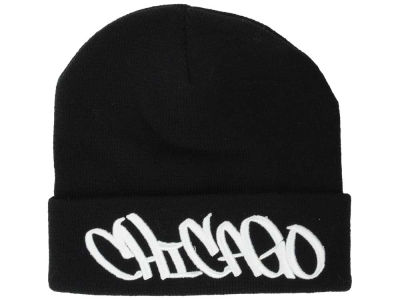 Chicago 2014 City Script Cuffed Knit