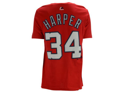 Washington Nationals Bryce Harper Majestic MLB Youth Official Player T-Shirt