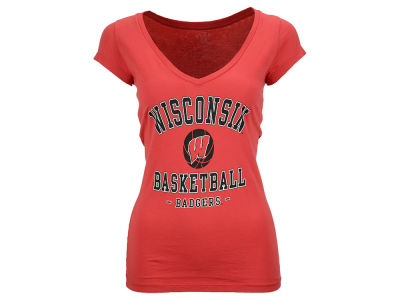 Wisconsin Badgers Blue 84 NCAA Women's Watcher V-Neck T-Shirt