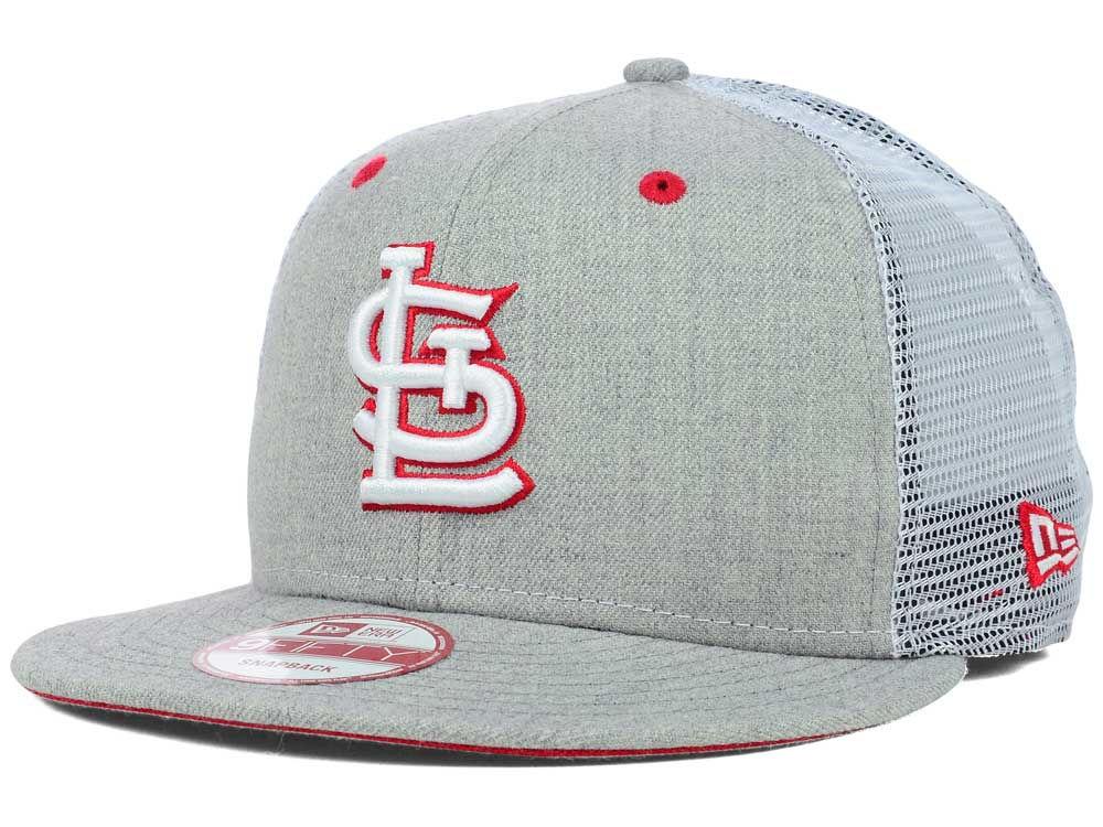 8f5276c5ef6 St. Louis Cardinals New Era MLB Heather Trucker 9FIFTY Snapback Cap ...
