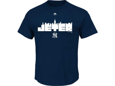 New York Yankees Derek Jeter Majestic MLB Derek Jeter Skyline T-Shirt