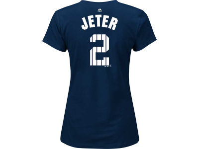New York Yankees Derek Jeter MLB Women's Jeter Patch Pinstripe T-Shirt