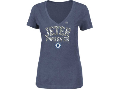 New York Yankees Derek Jeter Majestic MLB Women's Commemorative Jeter Forever T-Shirt