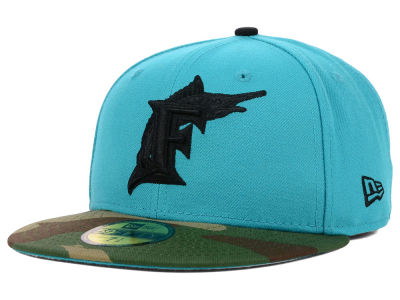 Florida Marlins New Era MLB Color Woodland 59FIFTY Cap
