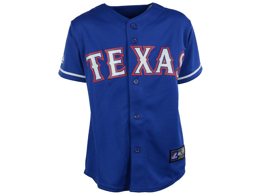 71527ebf1 Texas Rangers MLB Youth Blank Replica Jersey