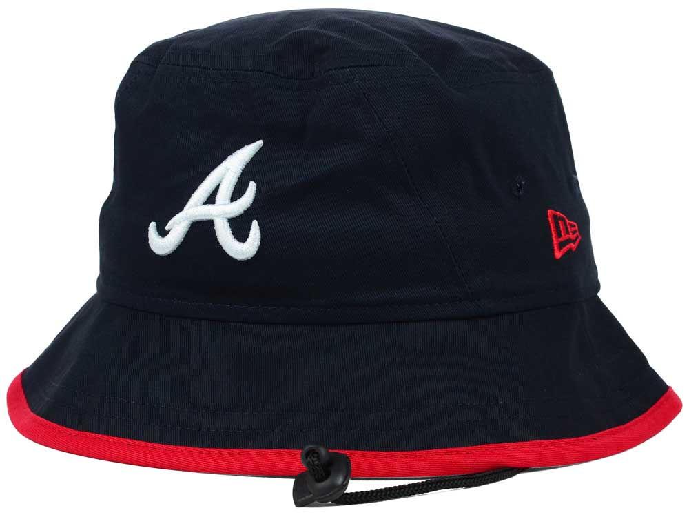 555c36992d0 Atlanta Braves New Era MLB Basic Tipped Bucket